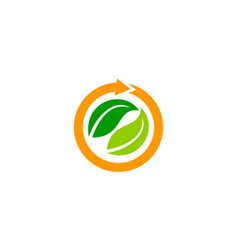 Green project solution center vector
