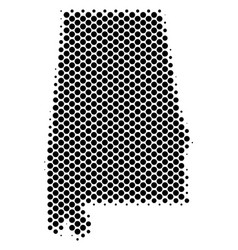 halftone schematic alabama state map vector image