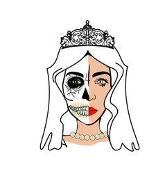 Halloween Bride vector