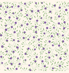 hand drawn pattern with branches and berries vector image