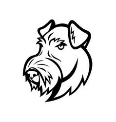 Head airedale terrier bingley terrier vector