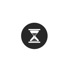 hourglass round icon for culinary theme countdown vector image
