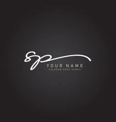 Initial letter sp logo handwritten signature logo vector