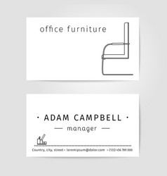 Interior and office Furniture Designer or Manager vector