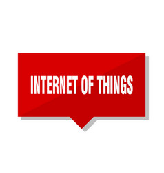 Internet of things red tag vector