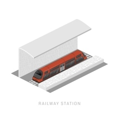 isometric of subway train Vehicles vector image