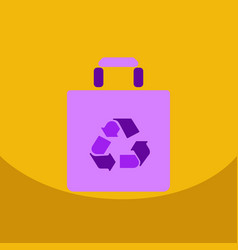 Light color paper bag with recycle sign shopping vector