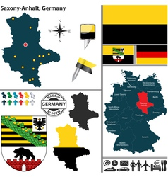 Map of Saxony Anhalt vector