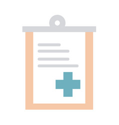 medical report clipboard health care equipment vector image