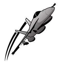 military fighter jet airplane vector image