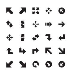 Mini Arrows Icons 8 vector