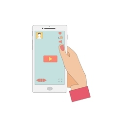 Mobile Phone with Video Player App vector
