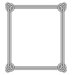 Ornamental frame with vintage decor round elements vector