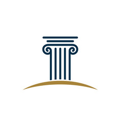 Pillar logo template for law office vector