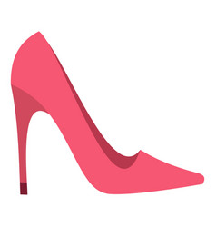 Pink high heel shoe icon isolated vector