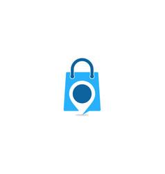 Point shopping logo icon design vector