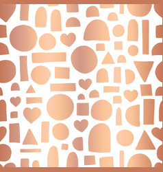 rose gold foil doodle shape seamless repeat vector image