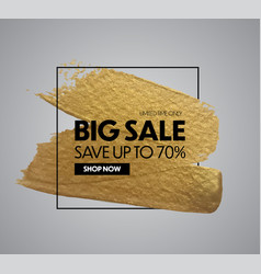 sale banner design special offer background vector image
