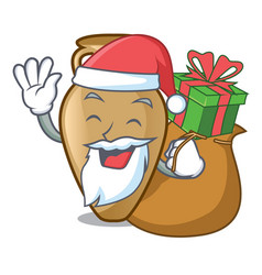 santa with gift amphora mascot cartoon style vector image
