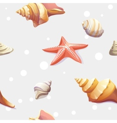 seamless texture with the image of seashells vector image
