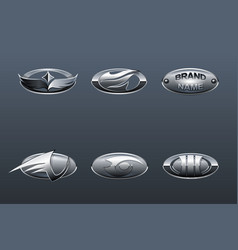 set of car logo vector image
