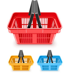 set of shopping baskets vector image