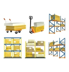 set warehouse elements vector image