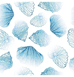 Shells Seamless pattern vector