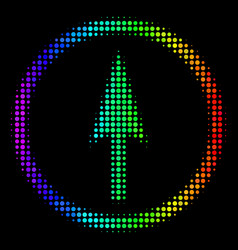 Spectral colored pixel sharp rounded arrow icon vector