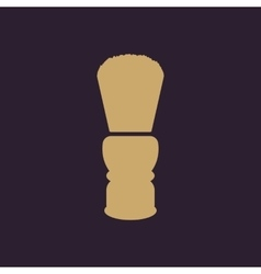 The shaving brush icon Shaver symbol Flat vector image
