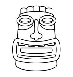 Tiki idol mask icon outline style vector