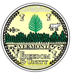 Vermont state seal vector