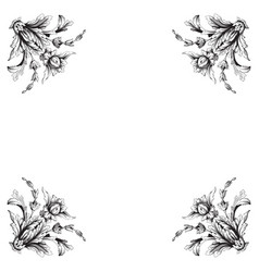 vintage baroque frame scroll ornament vector image