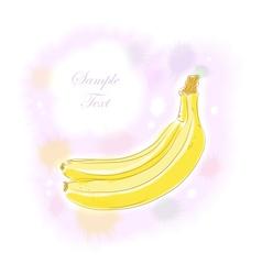 Watercolor banana vector image