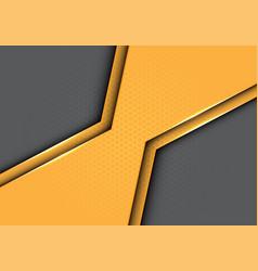 Yellow polygon metallic with hexagon mesh vector