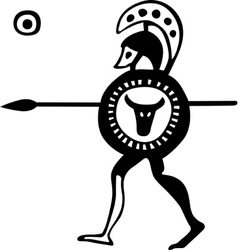 Ancient Greek soldier vector image
