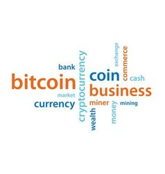 bitcoin text vector image vector image