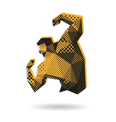 Bodybuilder abstract isolated vector