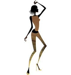 funky exotic dancer vector image