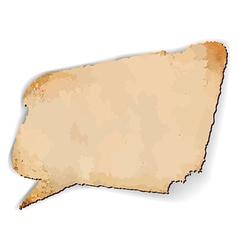 Aged speech bubble vector image