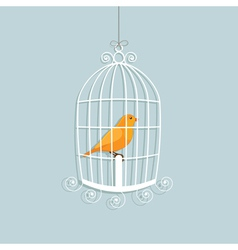 caged canary vector image