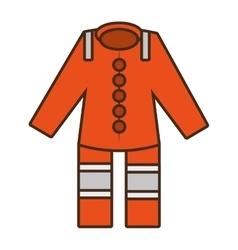 cartoon orange suit overall uniform worker vector image