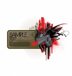 frame with gun vector image vector image