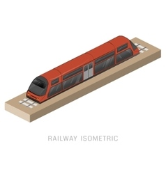 isometric of subway train vector image