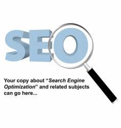 SEO search engine optimized logo vector image vector image