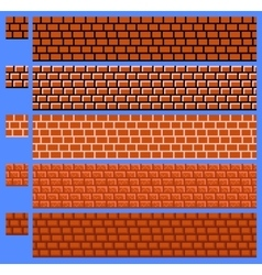 Texture for platformers pixel art - brick vector image vector image