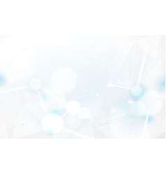 abstract white bokeh and lines beam background vector image vector image