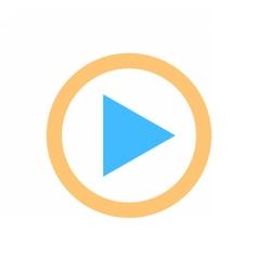 Arrow sign direction icon play circle button vector image