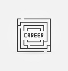 career labyrinth icon vector image vector image