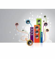 loudspeakers garden vector image